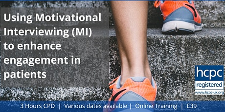 Motivational Interviewing to enhance engagement with patients tickets