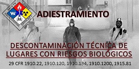 Adiestramiento descontaminación técnica de lugares con riesgos biológicos entradas