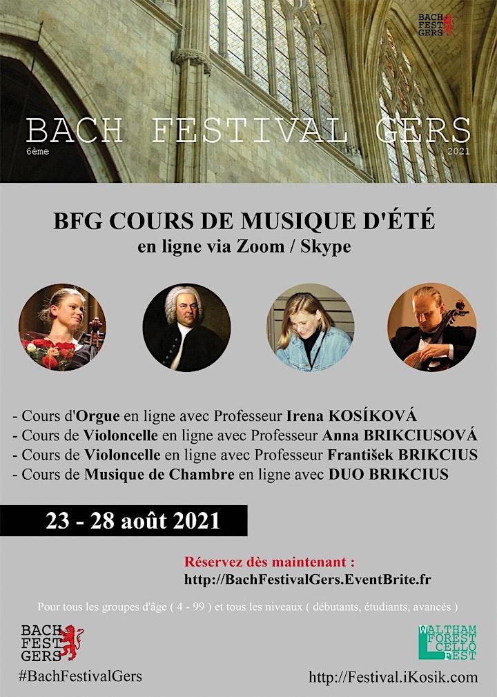 6ème BACH FESTIVAL GERS - Cours de musique d'été en ligne via Zoom image
