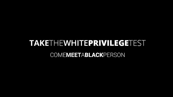 """Come Meet A Black Person"" Anti-Racism Virtual Series image"