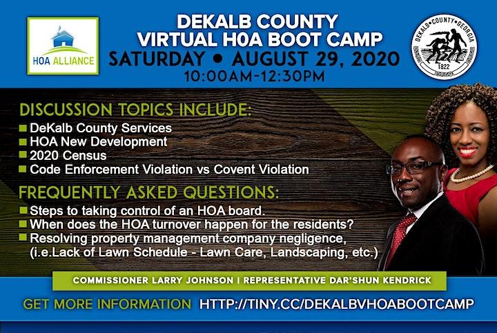 Dekalb County Virtual HOA Boot Camp image