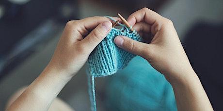 Hand Knitting - Beginner's Level 'Zoom' Online Class tickets