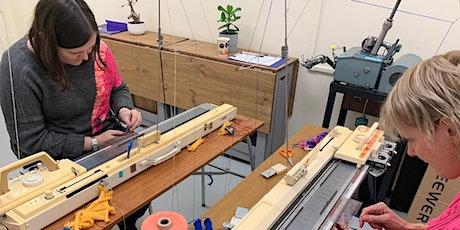 Machine Knitting- Beginner's Level 'Zoom' Online Class tickets
