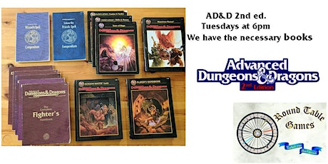 AD&D 2nd ed.Wednesdays with Round Table Games tickets