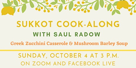 Sukkot Cook-Along with Saul Radow tickets