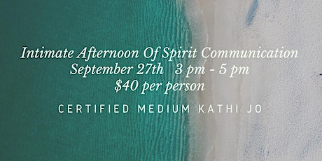Intimate Afternoon of Spirit Communication with Medium Kathi Jo tickets