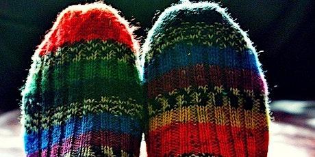Meias à Mão - Learn to Knit Socks! 'Zoom' Online Class entradas