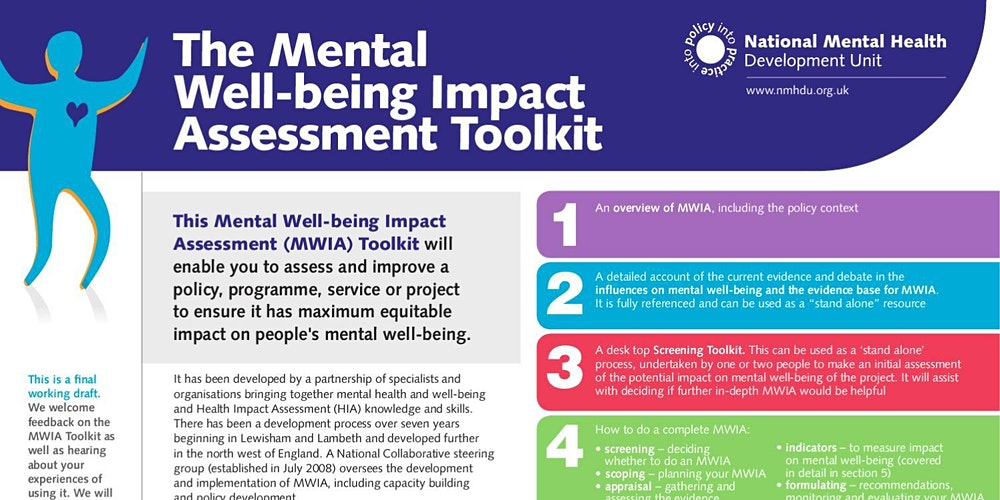 Mental Wellbeing Impact Assessment Tool Training Auckland Registration Thu 18 02 2021 At 9 00 Am Eventbrite