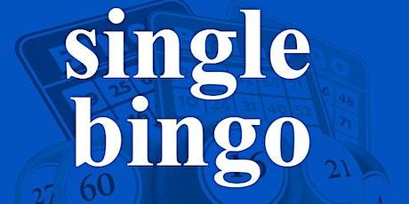 SINGLE BINGO FRIDAY OCTOBER 16,2020 tickets