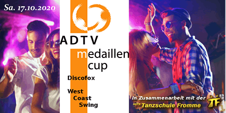 ADTV-Medaillen Cup • Discofox + West Coast Swing • Eventarena Bühl Tickets