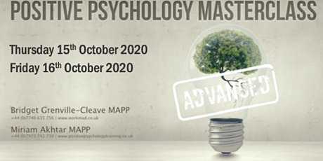 Advanced Positive Psychology Masterclass (Part 2) tickets