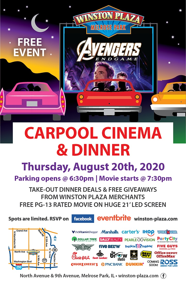 Carpool Cinema & Dinner at Winston Plaza image