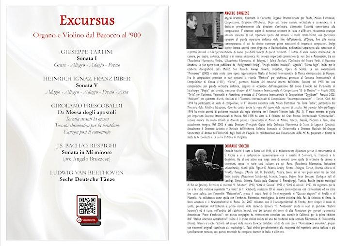 Immagine Excursus: Organo e Violino dal barocco al '900