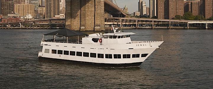 NYC Techno Sunset Booze Cruise Blackout Yacht Party at Skyport Marina image