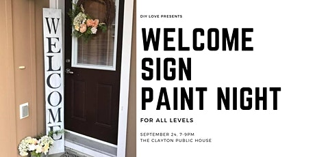 Rustic Welcome Sign Painting tickets