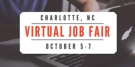 (Virtual) Charlotte Job Fair - October 5-7, 2020 tickets