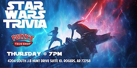 Star Wars Trivia at Fuzzy's  Taco Shop Rogers tickets