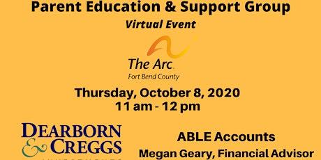 ABLE Accounts -  Megan Geary, Financial Advisor tickets
