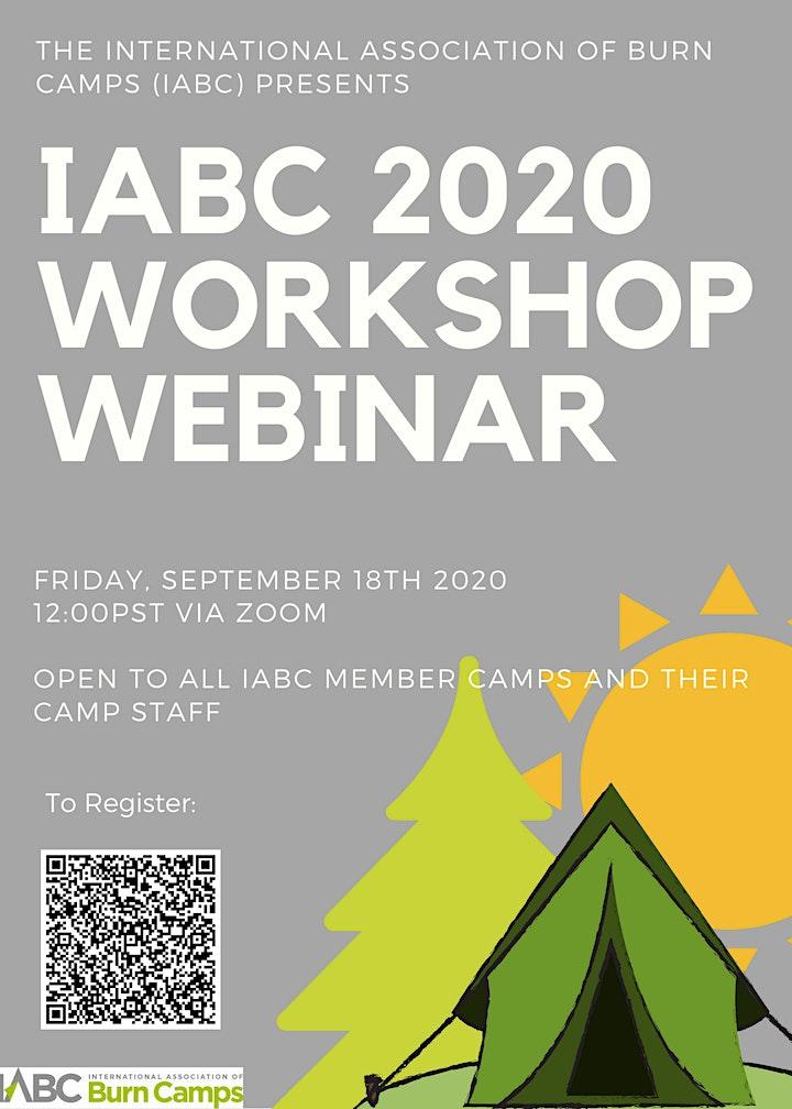 International Association of Burn Camps (IABC) 2020 Workshop Webinar image