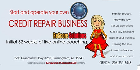 Learn how to start and run a CREDIT REPAIR BUSINESS tickets