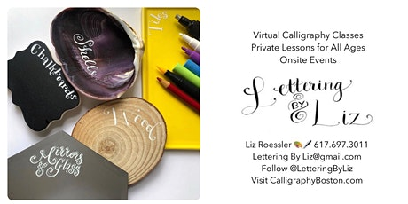 Virtual Creative Handlettering on Unique Surfaces tickets