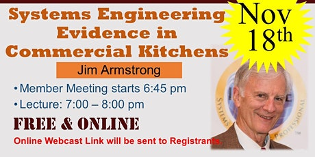 Systems Engineering Evidence in Commercial Kitchens (Virtual On-Line) tickets