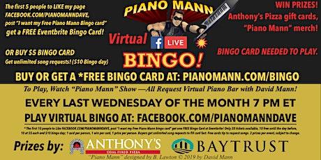 Piano Mann Virtual Bingo tickets