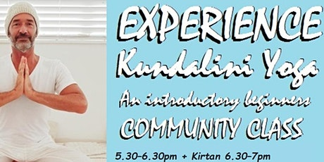 Experience Kundalini Yoga - 4 week Introduction Workshop - Live & via ZOOM tickets