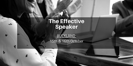 The Effective Speaker - Auckland  15th & 16th October tickets