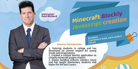 Free Video Recording---Minecraft Blockly Javascript Creation tickets