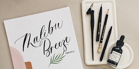 Modern calligraphy Malibu Breeze style - 4hrs tickets