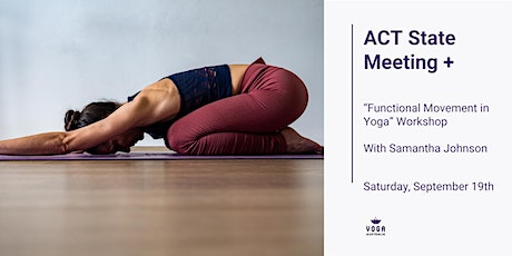 """ACT State Meeting + """"Functional Movement in Yoga """" Workshop tickets"""