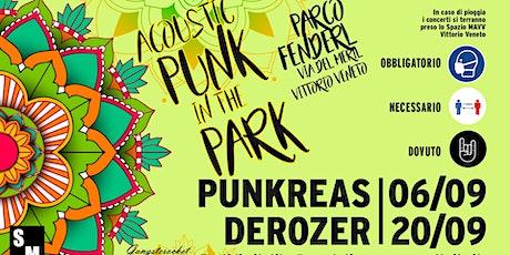 Acoustic Punk in the Park: Derozer 20/09 Vittorio Veneto biglietti