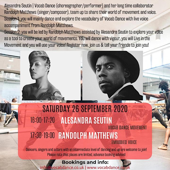 Vocab Dance & Friends Online  - Movement & Voice Workshop image