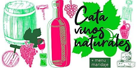 Cata de vinos naturales en una terrazza privada con vista