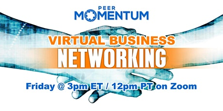 PeerMomentum Virtual Business Networking tickets