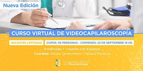 Curso Virtual de Videocapilaroscopía - 2da Ed. ONLINE tickets