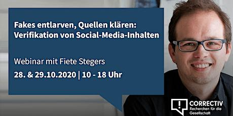 Tag 1 –  Verifikation von Social-Media-Inhalten Tickets