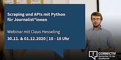 Tag 1 – Scraping und APIs mit Python für Journalist*innen Tickets