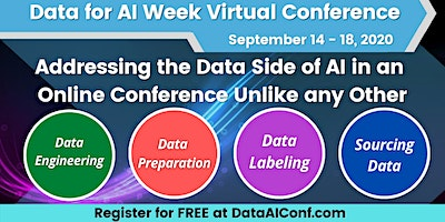 Data for AI Week Virtual Conference, Sept. 14-18, 2020