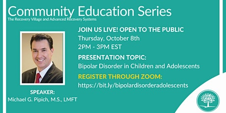 Community Education Series: Bipolar Disorder in Children and Adolescents tickets