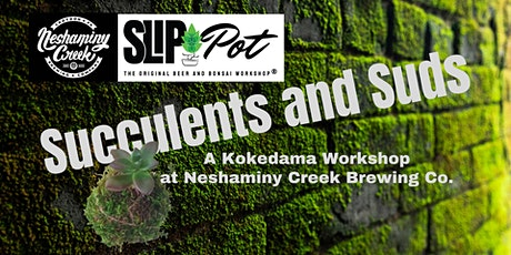 Succulents and Suds: A Kokedama Workshop at Neshaminy Creek tickets