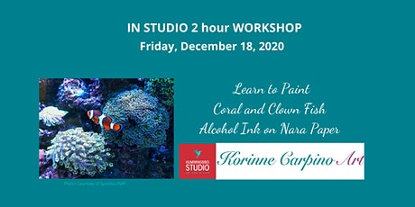 Learn to Paint Coral and Clown Fish with Alcohol Ink tickets