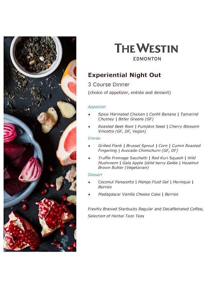 Westin Edmonton Chocolate Tasting & Dinner  Experiential Night image