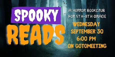 Horror Book Club for 5th-8th Grade tickets