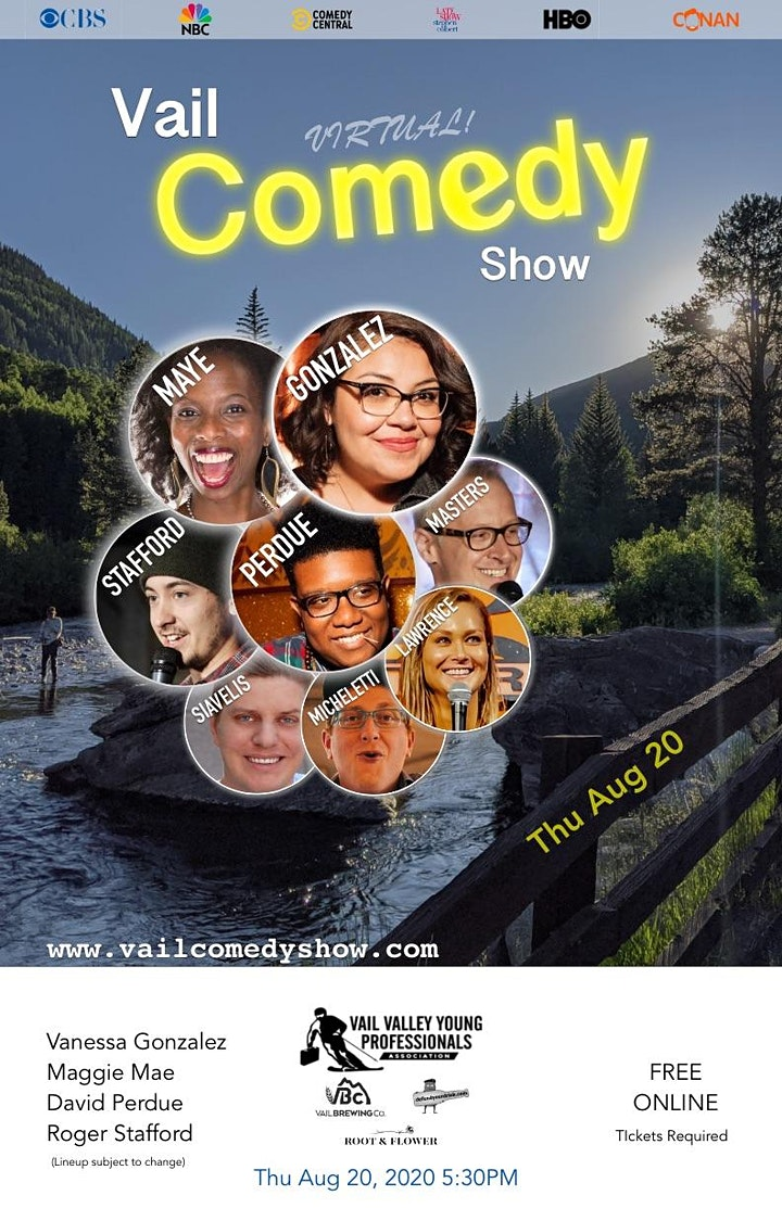 Vail Comedy Show (Online) - August 2020 image