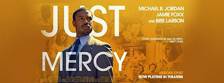"""""""Just Mercy and Access to Justice"""" Co-Sponsored by Barrister's Title image"""