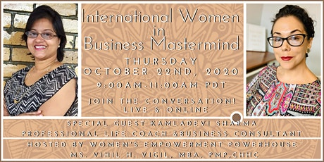 International Women in Business Mastermind featuring Kamladevi Sharma! tickets