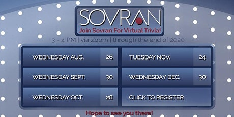 December Virtual Trivia Happy Hour with Sovran tickets