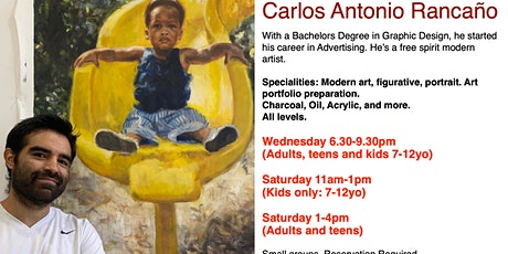 Art Classes, Painting & Drawing with Artist Carlos Rancaño tickets